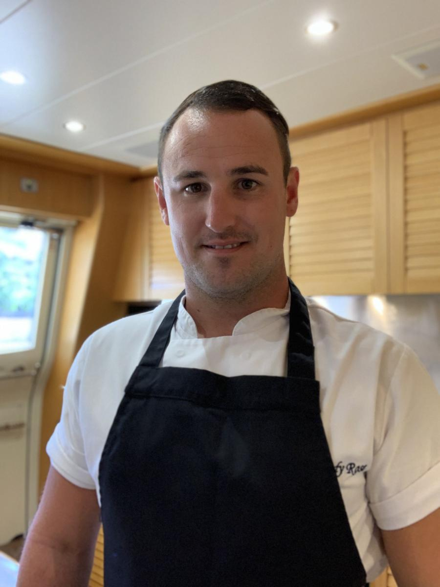 The superyacht Chef Simon Edwards
