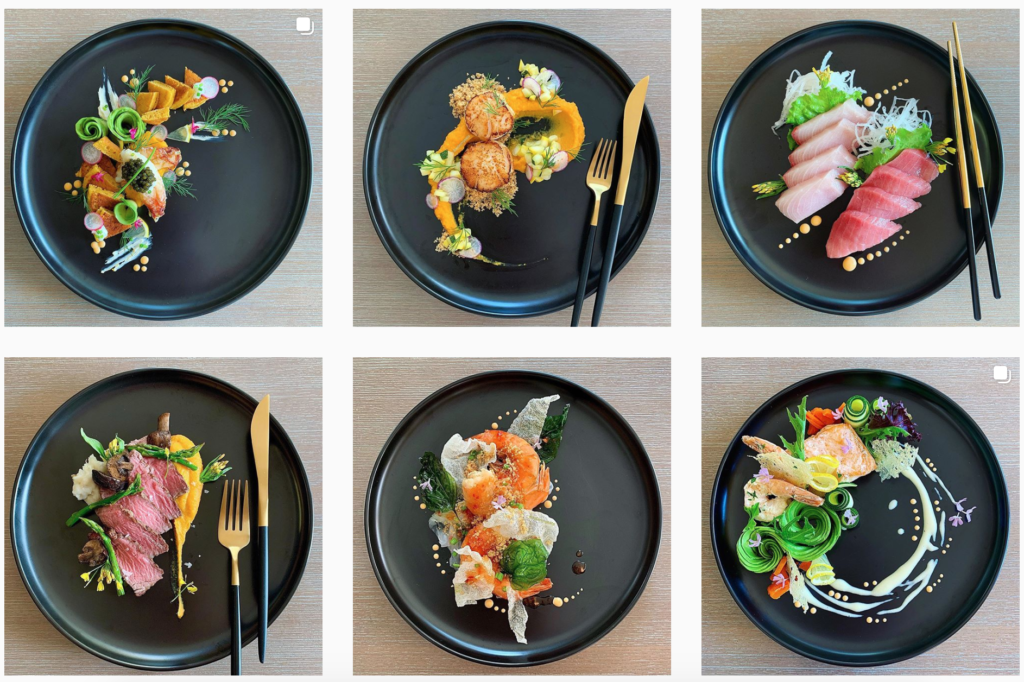 plating food for yacht chefs